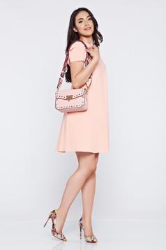 Rózsaszínű PrettyGirl zsebes bő szabás ruha