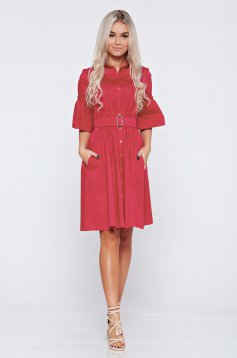 Pink PrettyGirl a-vonalú hétköznapi ruha harang ujjakkal