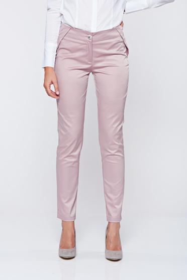 Rózsaszínű PrettyGirl zsebes kónikus nadrág