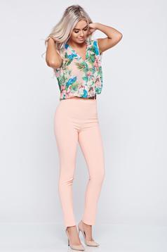 Rózsaszínű PrettyGirl ujj nélküli overál lenge anyagból
