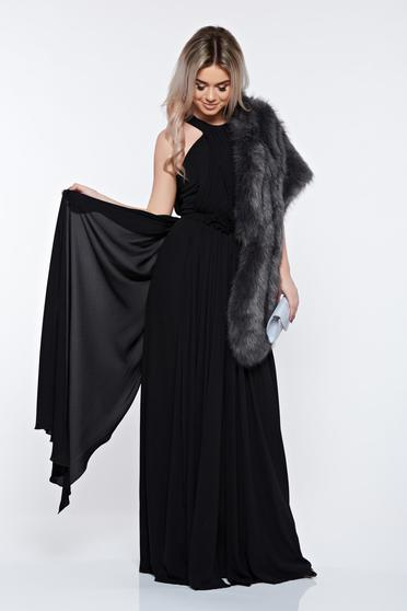 Fekete LaDonna hosszú ujjatlan alkalmi ruha
