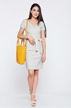 Szürke Top Secret rövid ujjú bő szabású ruha