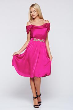 Pink LaDonna alkalmi ruha a-vonalú vékony pántokkal