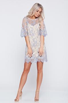 Kék LaDonna ruha alkalmi csipkés anyagból