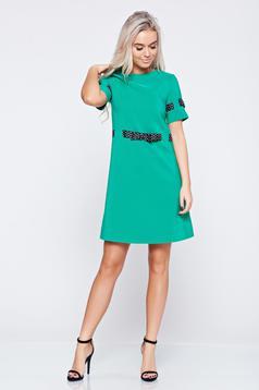 Zöld LaDonna rövid ujjú ruha