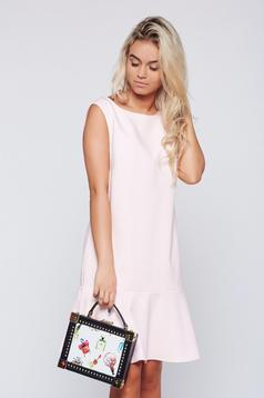 Rózsaszínű Top Secret ruha fodros lenge anyagból