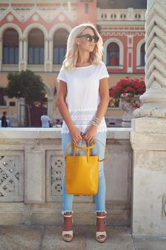Sárga Top Secret hétköznapi táska közepes hosszuságú fülekkel
