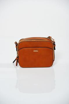 Hétköznapi narancs Top Secret táska fémes kiegészítővel