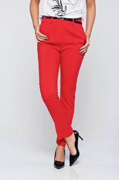 Piros Top Secret zsebes kónikus nadrág