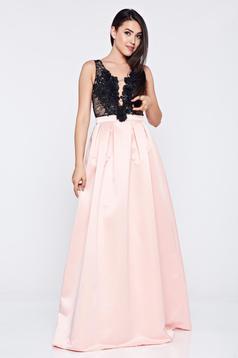 Pink LaDonna a-vonalú alkalmi ruha dekoltázzsal