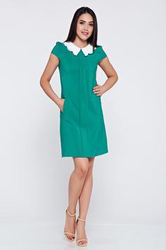 Zöld Fofy bő szabás zsebes ruha