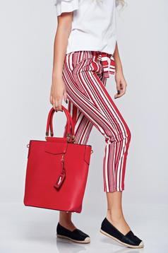 Piros irodai táska rövid fülekkel