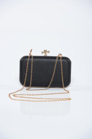 758d0bd4c164 Fekete alkalmi táska fém csa... 7990Ft · Fekete táska csillogó díszítések