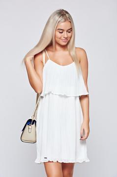 Fehér Top Secret ruha lenge anyagból pántokkal
