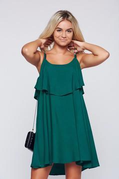 Zöld Top Secret ruha hétköznapi pántok bő szabás
