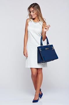 Fehér LaDonna elegáns ujjatlan ruha