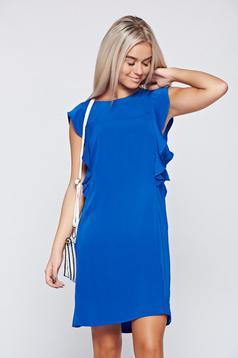Kék Top Secret elegáns bő szabású ujjatlan ruha