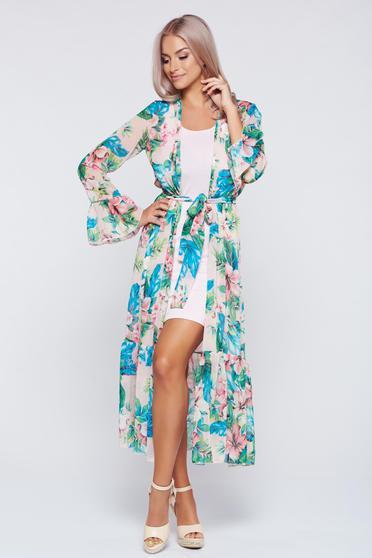 Zöld PrettyGirl bő szabású kimono ruha fátyol anyag