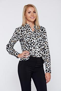 Fekete Top Secret női ing irodai bő szabású hosszú ujjú