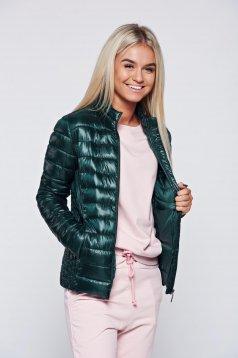 Zöld Top Secret dzseki hétköznapi cipzáros zsebek