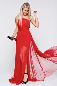 Piros Ana Radu ruha alkalmi harang alakú ujjatlan