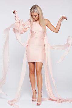 Rózsaszínű Ana Radu alkalmi egy vállas ceruza ruha