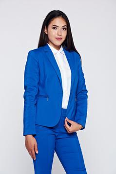 Kék Top Secret blézer irodai szűkített pamutból készült
