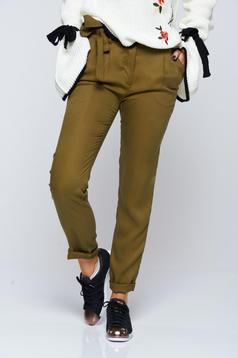 Zöld Top Secret hétköznapi kónikus nadrág
