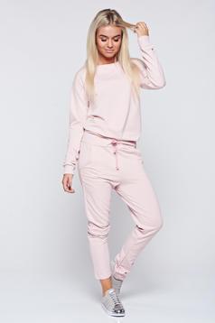 Rózsaszínű hétköznapi pamutból készült szett zsebes