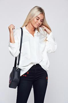 Fehér bő szabású női ing lenge anyagból