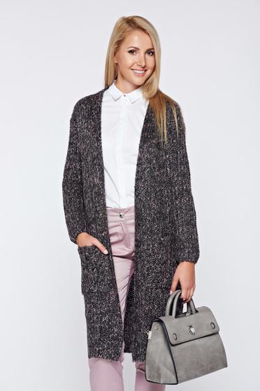 Sötétzöld Top Secret bő szabású kötött pulóver