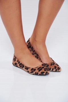 Világosbarna Top Secret hétköznapi állatmintás cipő könnyű talpal