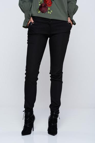 Fekete LaDonna irodai kónikus nadrág zsebes