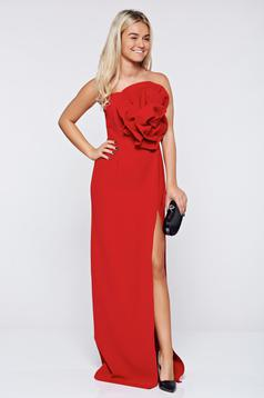 Piros elegáns hosszú ujjatlan Ana Radu ruha