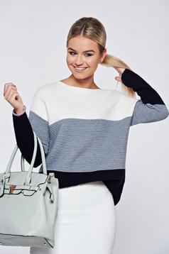Szürke hétköznapi bő szabás kötött pulóver