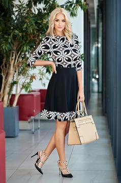 Barna StarShinerS harang alakú irodai ruha geometrikus mintával