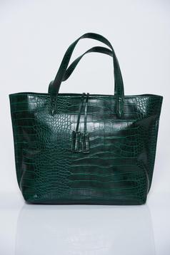Zöld hétköznapi lakkozott anyag táska fémes kiegészítő