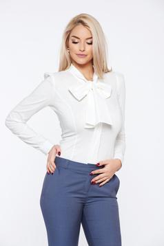 Fehér Fofy pamutból készült irodai gomb nélküli női ing