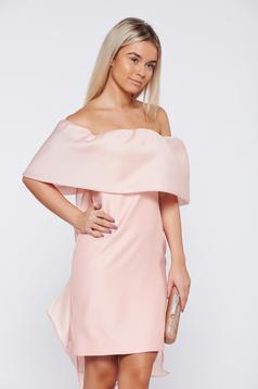 Rózsaszínű Ana Radu alkalmi fodros ruha