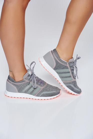Szürke Adidas originals habtalpú sport cipő hétköznapi fűzővel köthető meg