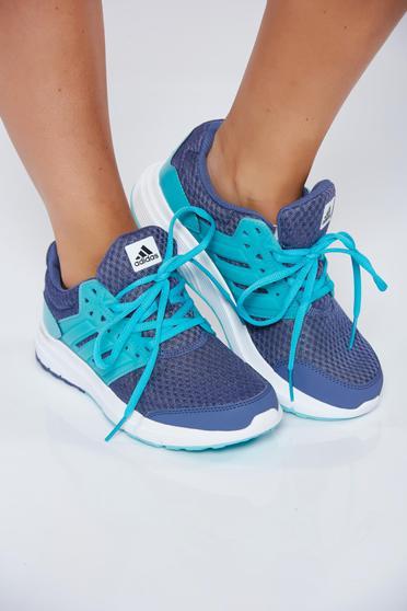 Kék Adidas hétköznapi a talp nagyon könnyű sport cipő függőleges csíkok