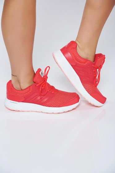 Korall Adidas hétköznapi lapos talpú sport cipő fűzővel köthető meg