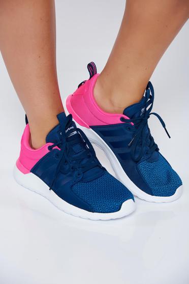Kék Adidas hétköznapi sport cipő függőleges csíkok fűzővel köthető meg