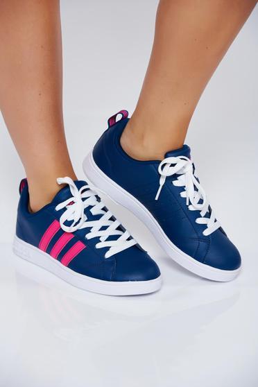 Kék Adidas originals hétköznapi sport cipő fűzővel köthető meg