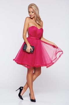 Pink alkalmi Ana Radu fűzős ruha szivacsos mellrész