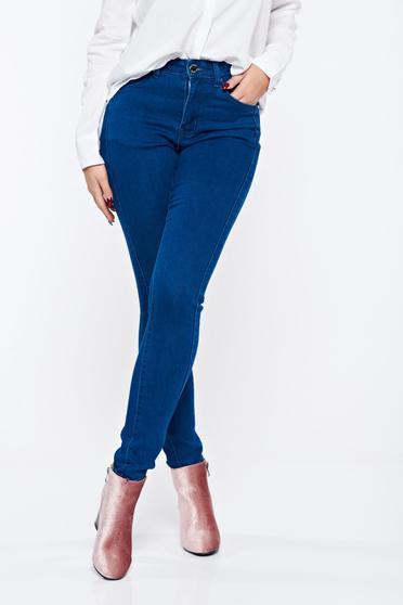 Kék Top Secret kónikus hétköznapi nadrág