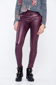 Lila Top Secret hétköznapi kónikus zsebes nadrág
