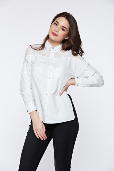 Fehér PrettyGirl hétköznapi női ing
