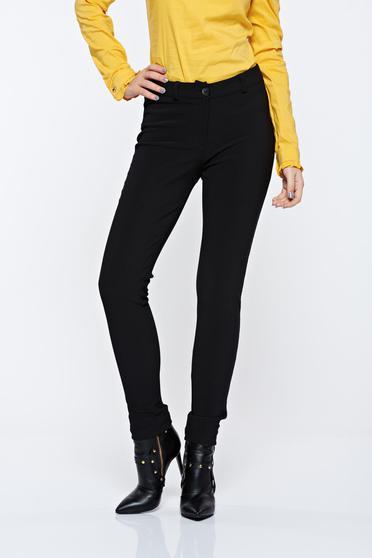 Fekete PrettyGirl hétköznapi kónikus nadrág