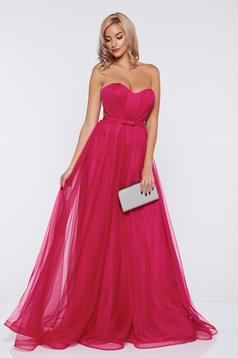 Pink Ana Radu alkalmi ruha tűll szivacsos mellrész